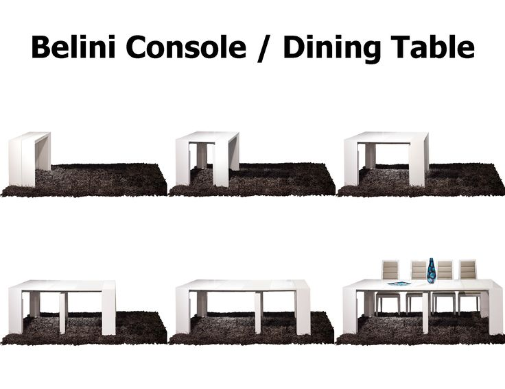 bellini console table extendable console table that extends to a full dining table fitting 10 - Dining Room Consoles