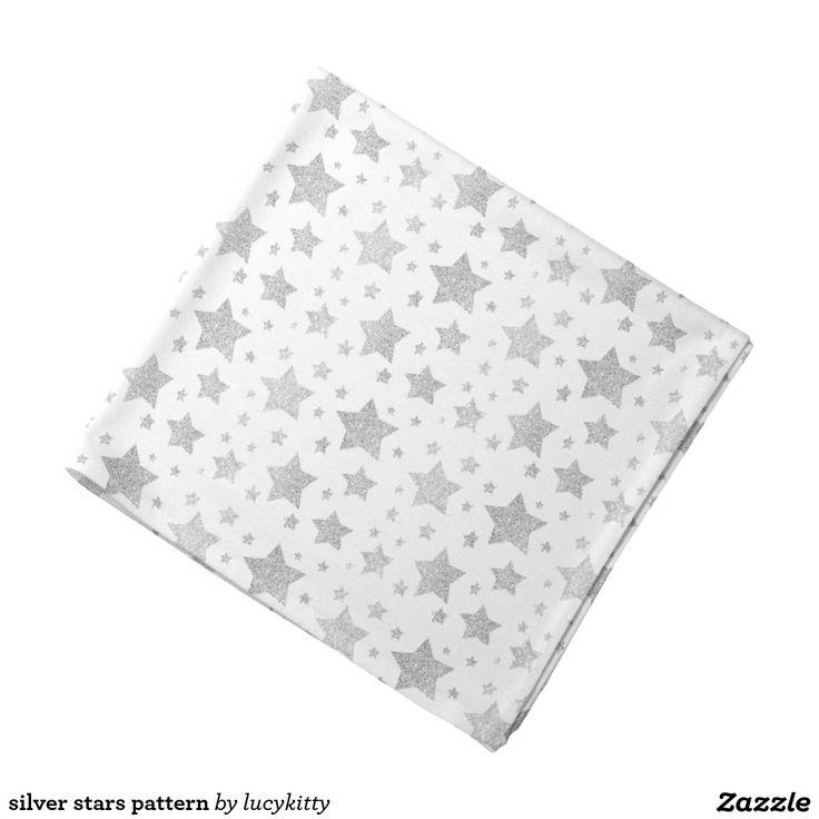 silver stars pattern bandana