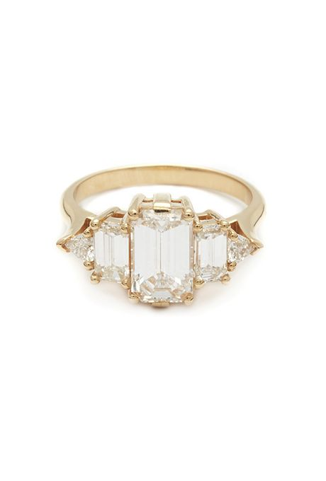 "Brides.com: 88 Vintage-Inspired Engagement Rings ""Galanterie de Cartier"" round-cut diamond set in 18K white gold with black lacquer, price upon request, CartierPhoto: Courtesy of Cartier"
