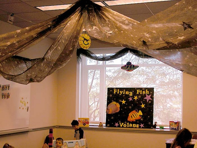 Outer Space decorated classroom
