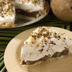 Chocolate Haupia (coconut) pie! Just like the pies from Ted's Bakery on Oahu. Yum!