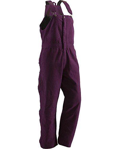 Berne Women's Washed Insulated Bib Overalls Regular Plum XLR