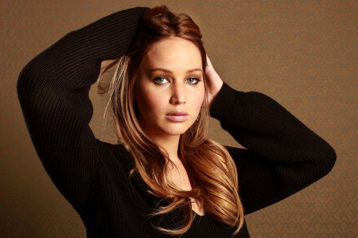 Jennifer Lawrence, actress, brunette, girl, gray, jennifer lawrence, woman