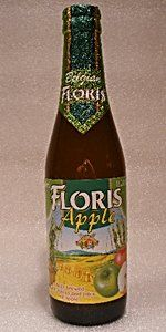 12/07: Floris Apple.   ****1/2.   Apple, apple, apple!  Looks, tastes and smells like sparkling apple juice.  A bit sour, but some lingering wheat flavour stuck around.  Really good paired with chocolate.   Beer Advocate score: 81.