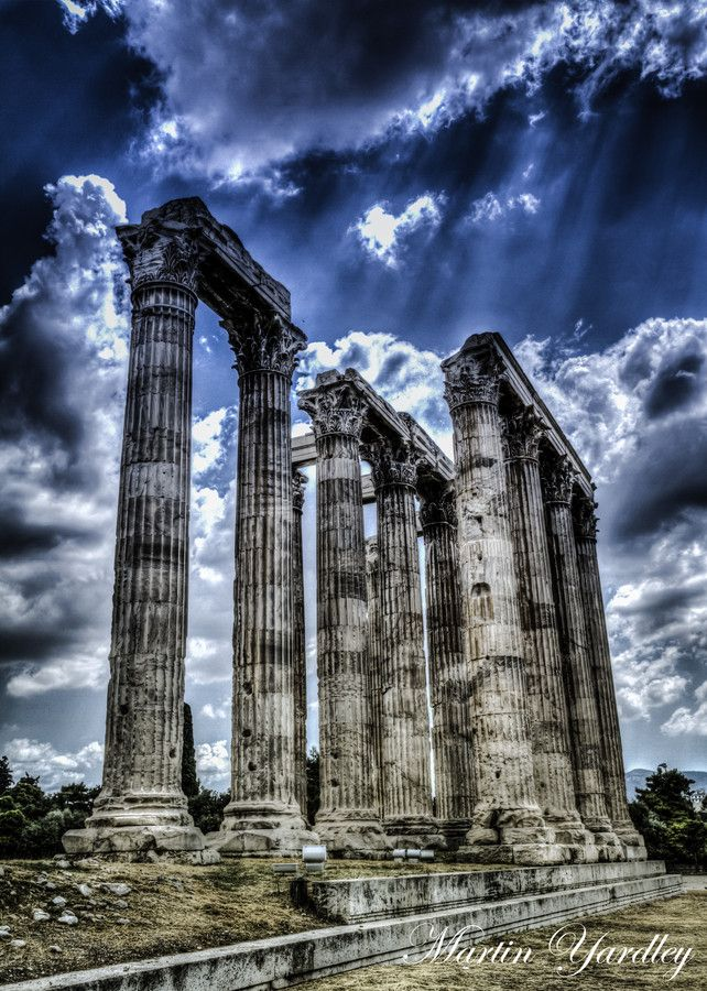 The Temple of Olympian Zeus, is a colossal ruined temple in the centre of the Greek capital Athens that was dedicated to Zeus, king of the Olympian gods. #kitsakis