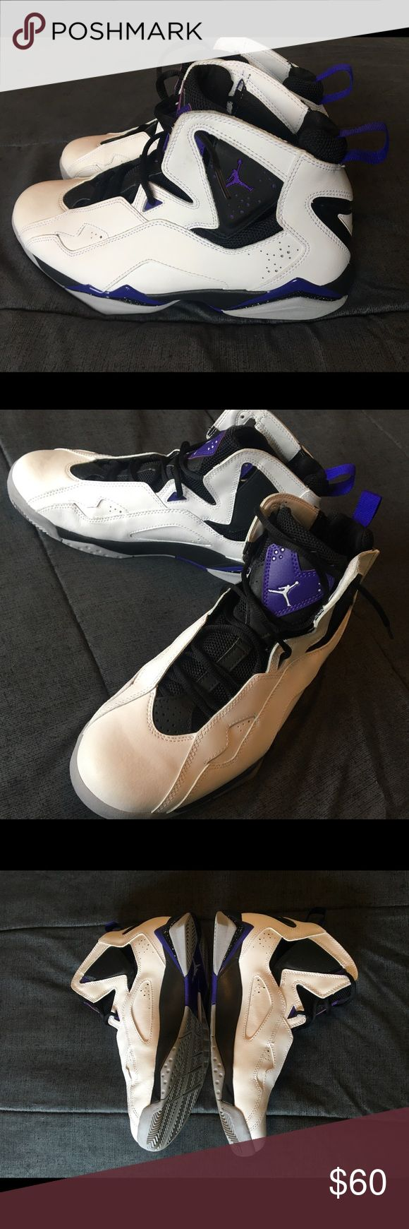 Jordan True Flight White-Gray-Black-Varsity Purple Jordan True Flight White-Gray-Black-Varsity Purple. Gently Used. Few Scuffs. Great condition. Make an offer 🙂. Jordan Shoes Athletic Shoes