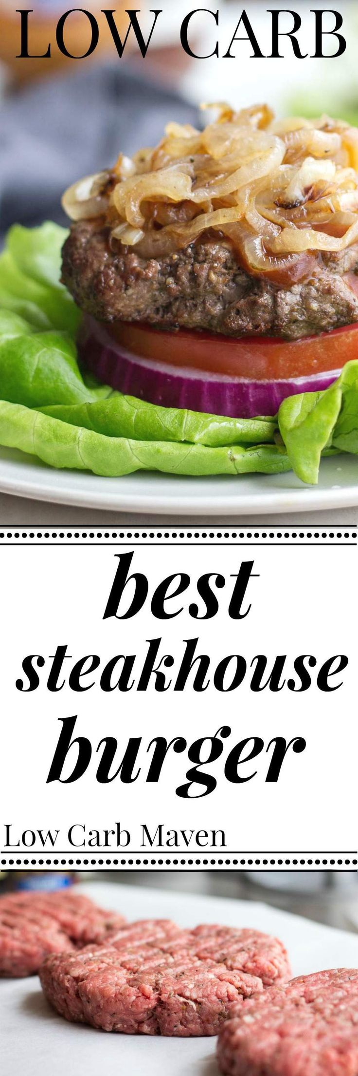 "These Low Carb Steakhouse Burgers are being dubbed ""the best burgers"" and only…"