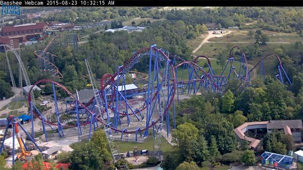 Roller coaster webcam. (see blog)
