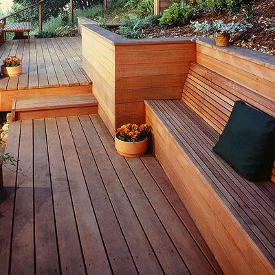 1000 ideas about hillside deck on pinterest decking for Redwood deck plans