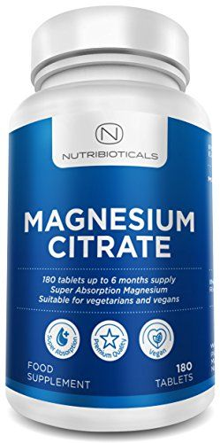 From 11.99:Magnesium Citrate 200mg 180 Tablets By Nutribioticals - 6 Month Supply Of Magnesium Tablets