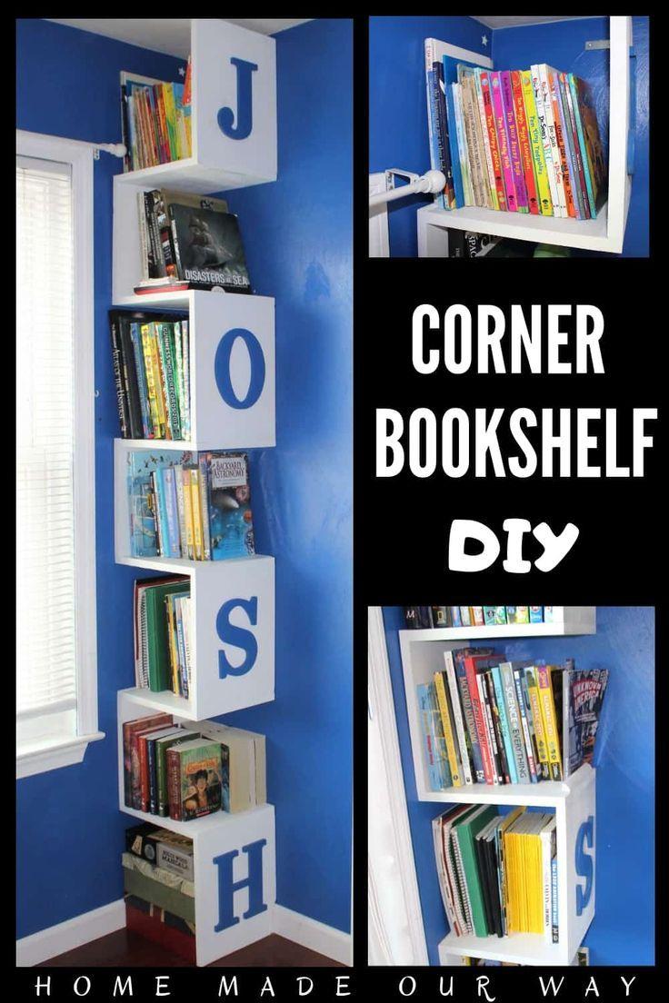 Corner Bookshelf DIY [Space-Saving Tower for Kids' Rooms ...