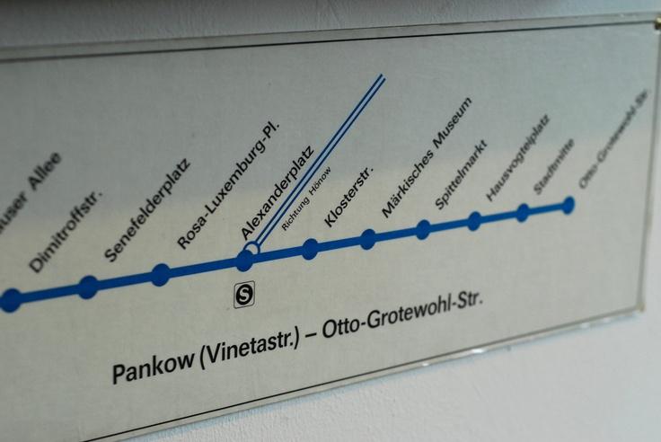 Berlin Germany subway signage wayfinding