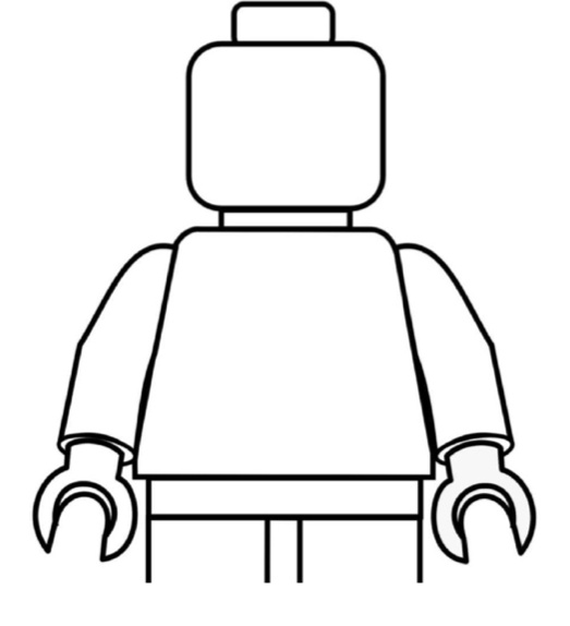 color him in lego guy lego party