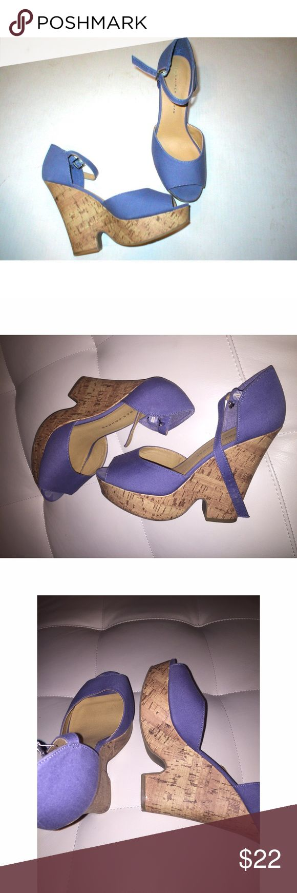 """Purple Wedges Lauren Conrad brand Purple/Lavender Wedges. Wedges measure about 5"""" in height. Size: 8. Like new, no defects. ✨ Worn once LC Lauren Conrad Shoes Wedges"""