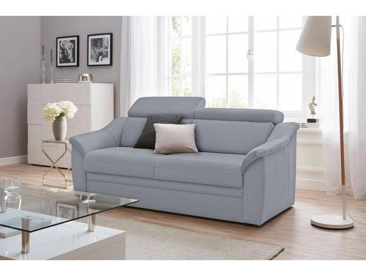 Sit More 2 5 Sitzer Inklusive Federkern Und Kopfteilverstellung Grau Couch Sofa Home Decor