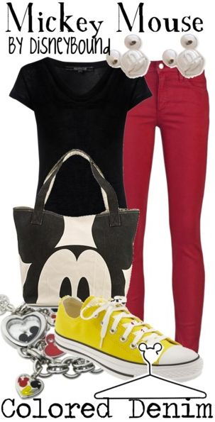 mickey mouse outfit - super cute site: disneybound.tumblr.com - where disney nerds and fashion geeks collide :)