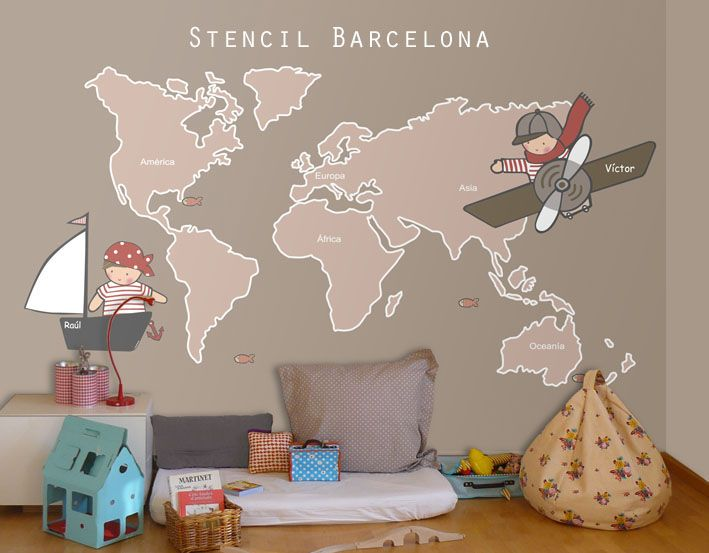 Best Vinil Mapa Mundi Images On Pinterest Child Room Nursery - Portal 2 wall decalsbest wall decals images on pinterest