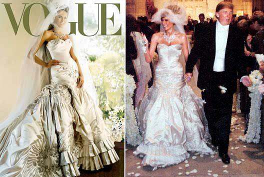 Melania Trump Wedding Dress. Created By John Galliano