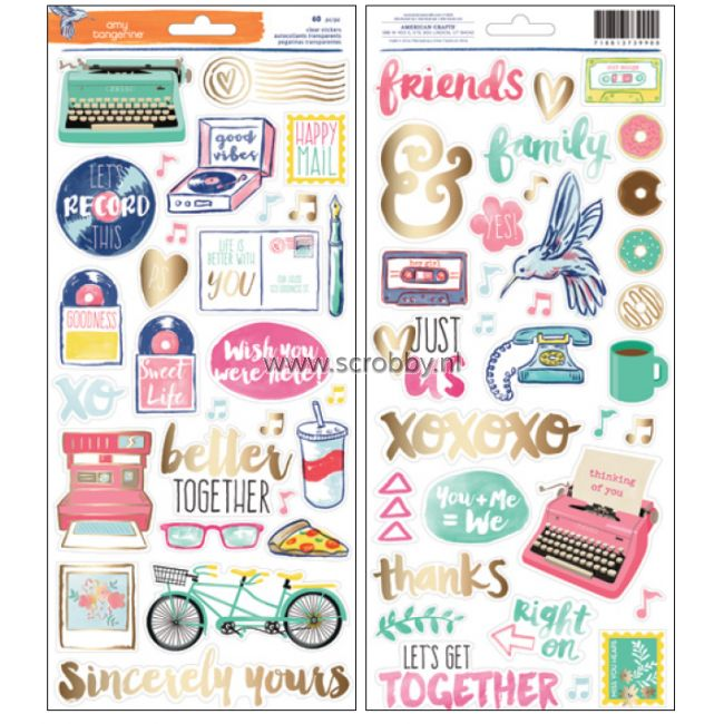 American Crafts Amy Tangerine Better Together Stickers Accent & Phrase
