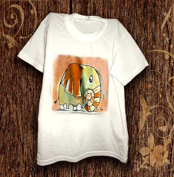 Hey, I found this really awesome Etsy listing at https://www.etsy.com/listing/210156518/hand-painted-kids-t-shirt-fun-elephant-t