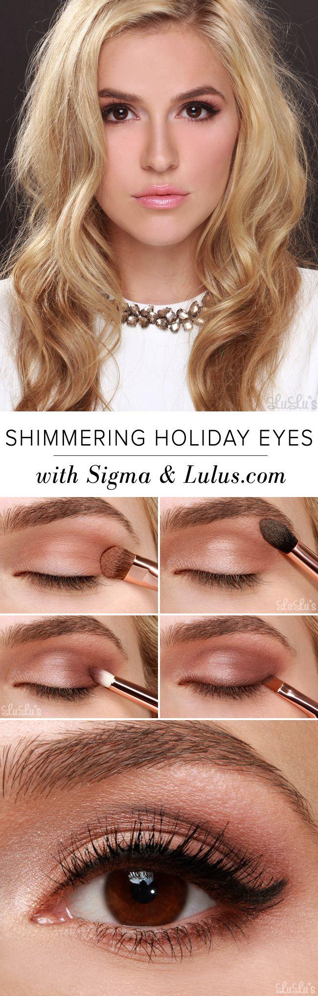 Shimmering Holiday Eyes