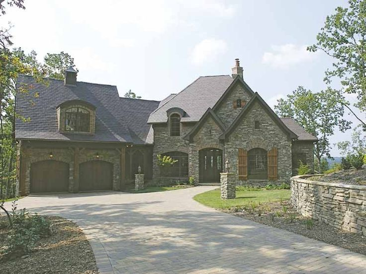 French Country House Plan with 4731 Square Feet and 3 Bedrooms(s) from Dream Home Source | House Plan Code DHSW34671