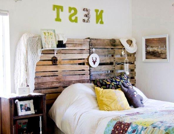Pallet Headboard Ideas Изголовье кровати из поддонов своими руками