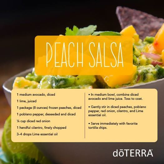 178 best doterra essential oils food recipes images on pinterest this delicious avocado peach salsa is a simple and refreshing recipe to help satisfy hunger lime essential oildoterra forumfinder Images