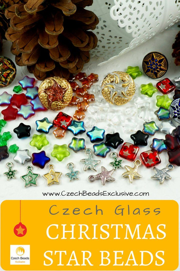 ? Czech Glass Christmas Star Beads  Differnt Colors and Sizes! - Buy now with discount!  Hurry up - sold out very fast! www.CzechBeadsExclusive.com/+star SAVE them!