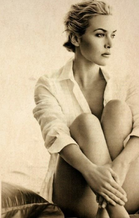 Blouse - white - beautiful Kate Winslet  #Women #Portrait #glamour #photography