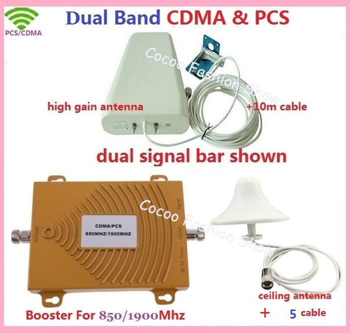 New dual band repeater CDMA 800Mhz Booster+PCS 1900 Repeater dual band PCS booster kits w/ cable &antennas,dual band GSM booster Click visit for check price #mobilephoneaccessories