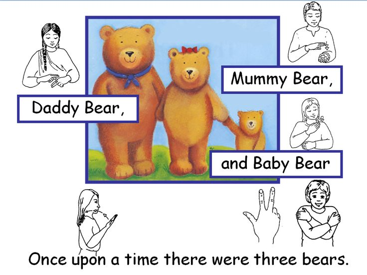 A simple version of the Goldilocks story. Includes simple sentences in Comic Sans font with additional Sign Supported English images accompanying each sentence.