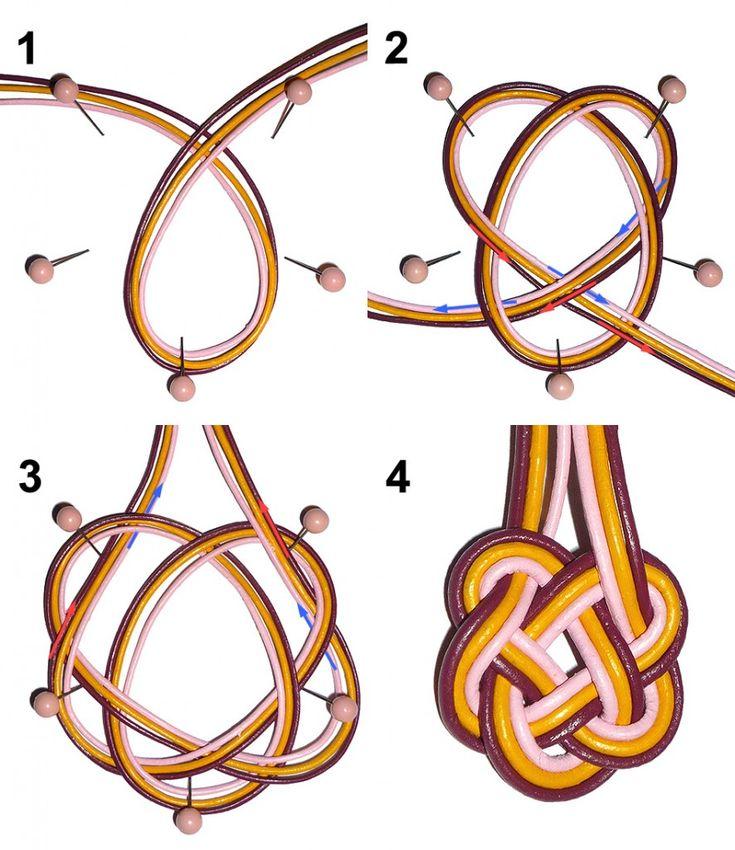 Die Ohrhänger in dieser Anleitung, hergestellt mit drei verschiedenfarbigen Lederbändern, sind von keltischen Knotenornament inspiriert. Mit Schmuckbändern und Lederbändern lassen sich ganz leicht beeindruckende Schmuckelemente mit dekorative ...