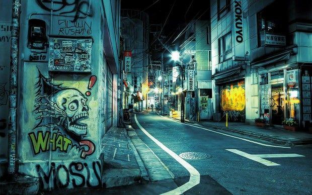City-graffiti-japan-street-Tokyo-urban