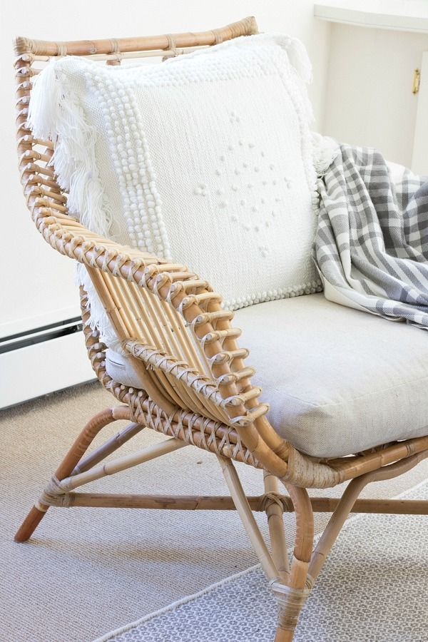 Awesome One Room Challenge Family Room Reveal. Rattan ChairsLiving ...
