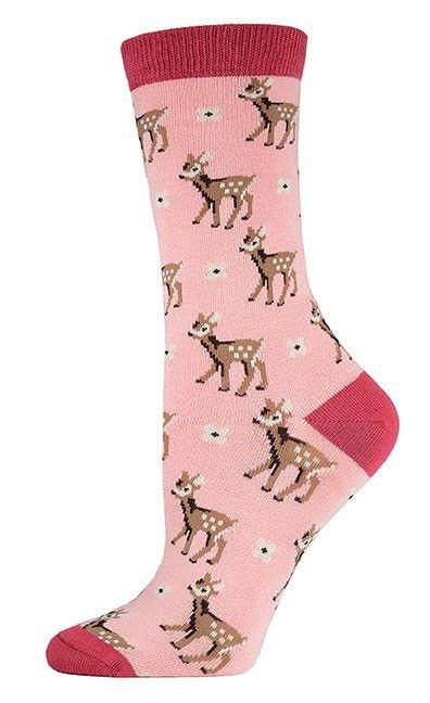 The Joy of Socks - Be A Deer Bamboo Socks (Women's), $10.00 (http://www.joyofsocks.com/be-a-deer-bamboo-socks-womens/)