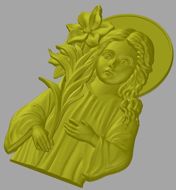 Girl 3D model stl file for cnc in STL file format STL_3660
