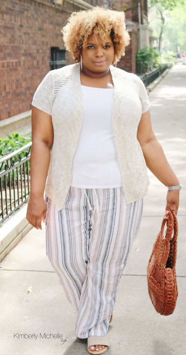 What To Wear With Linen Pants This Summer Kimberly Michelle Life Plus Size Linen Pants Outfit Linen Pants Outfit Plus Size Plus Size Outfits [ 1402 x 735 Pixel ]