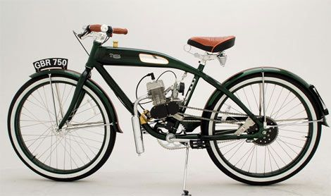 Ridley vintage style motorized bicycle. Damn thats a nice bike for something cheap gas ride... tops out at 30mph.