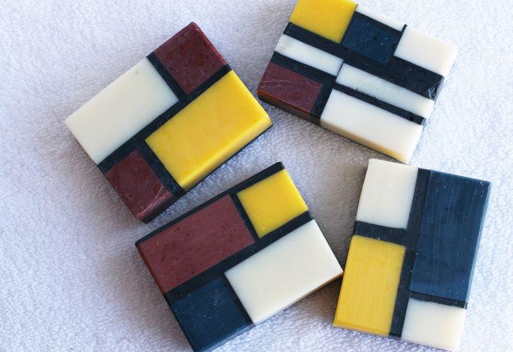 Mondrian Soap - One Leaf Soap-Natural Handmade Soaps
