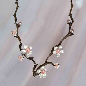Cherry Blossom Necklace by Michael Michaud Jewelry at BestAmericanArts.com