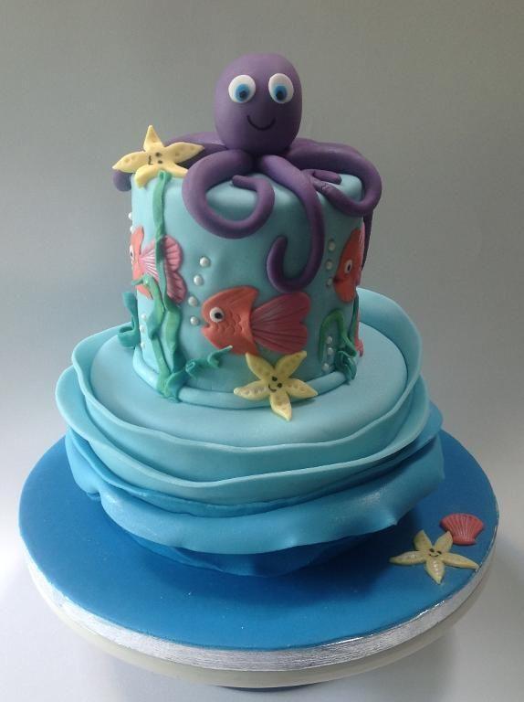 Kuchen unter fondant