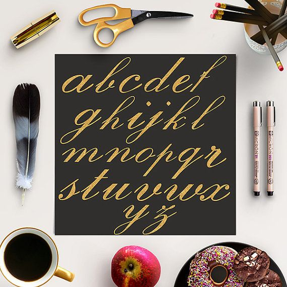 Gold Alphabet -  http://etsy.me/2aIIwlX 26 pieces of high quality digital gold letters (lower case).