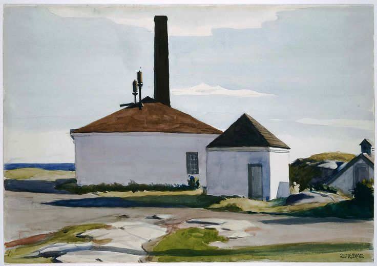 Edward Hopper House of the Fog Horn, No. 2 | 1927. Watercolor over graphite pencil on paper. 35,2 x 50,6 cm. Museum of Fine Arts, Boston.