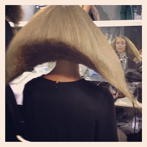 Alana Zimmer sports extreme hair at Rick Owens Spring/Summer 2013