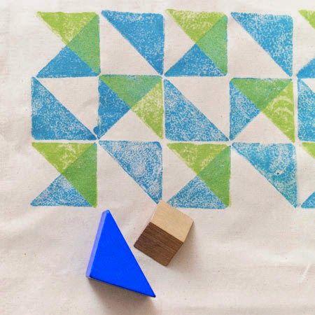 Faça Você Mesmo - Estampas para tecido com carimbos - blog Vera Moraes - Decoração - Adesivos Azulejos - Papelaria Personalizada - Templates para Blogs