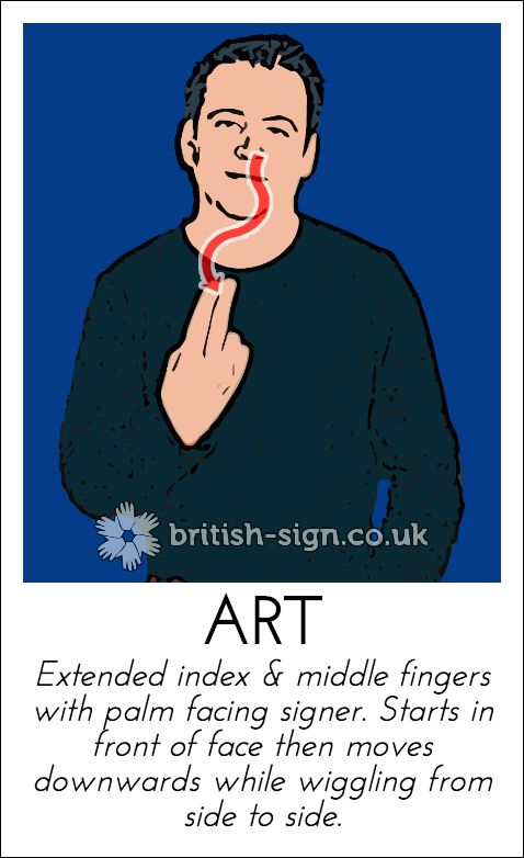 Today's British Sign Language sign is: ART - learn more at www.british-sign.co.uk #BSL #BritishSignLanguage