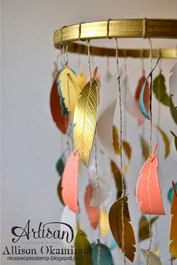 nice people STAMP!: Paper Feather Mobile - Stampin' Up! Artisan Blog H...