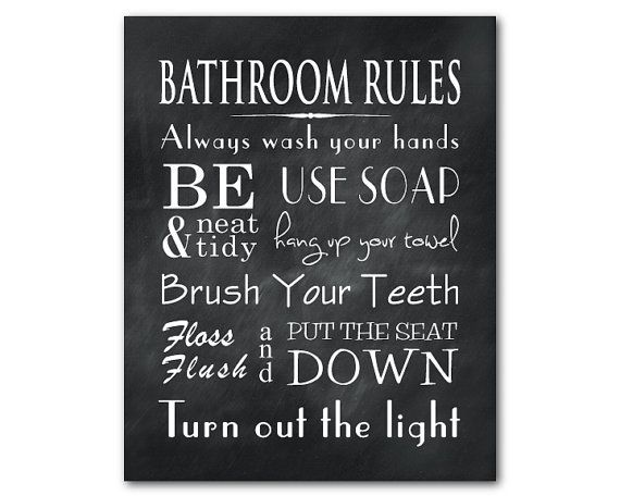 Bathroom Wall Art Word Art Print by SusanNewberryDesigns on Etsy