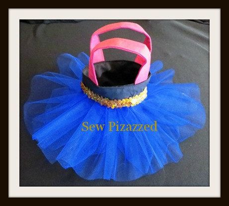 Set of 10 Disney Frozen Anna Party Favor Tutu Tote by SewPizazzed, $90.00